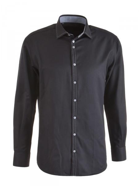 MILANO ITALY Herren Hemd, schwarz