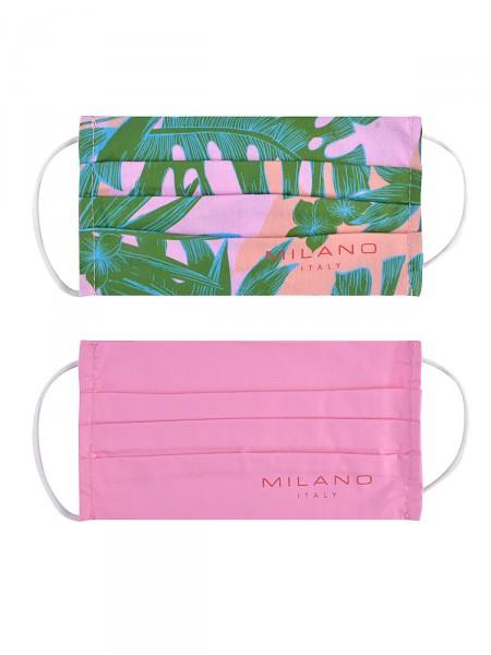 2 Pack Gesichtsmaske aus Stoff, pink