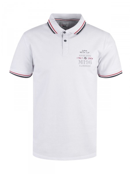 MILANO ITALY Herren Poloshirt, weiß