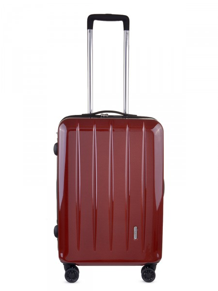 "MILANO ITALY Trolley ""Mailand 60 cm"", rot carbon"