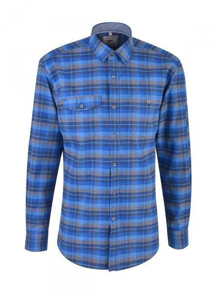 MILANO ITALY Herren Hemd, blau