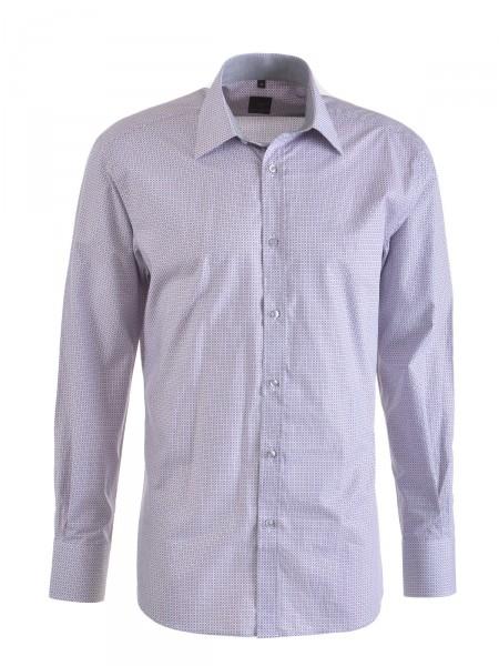 MILANO ITALY Herren Hemd, weiß-pink