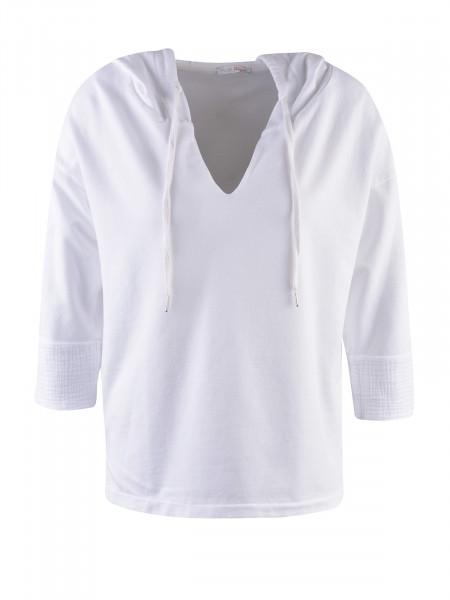HEARTKISS Damen Sweatshirt, weiß