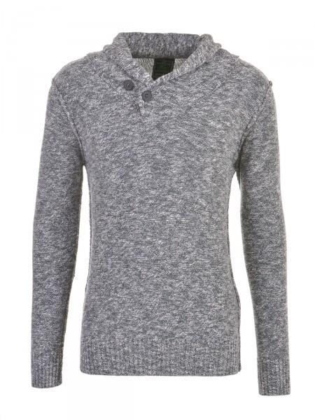KEY LARGO Herren Pullover grau-weiß