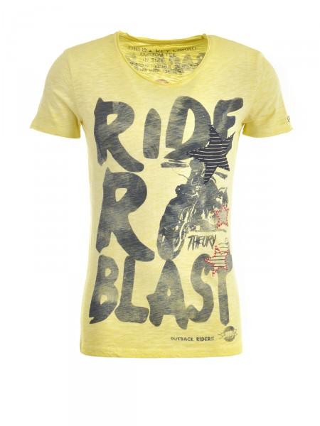KEY LARGO Herren T-Shirt, gelb