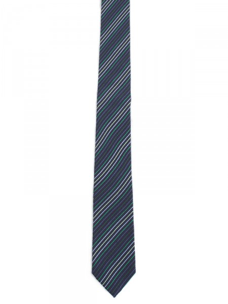 MILANO ITALY Herren Krawatte Seide, navy-grün