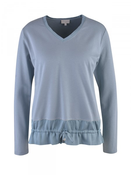 MILANO ITALY Damen Langarmshirt, blau