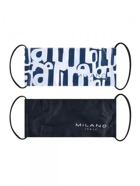 2 Pack Gesichtsmaske aus Stoff, marine / schwarz