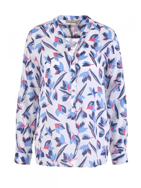 SMITH & SOUL Damen Bluse, weiß-blau