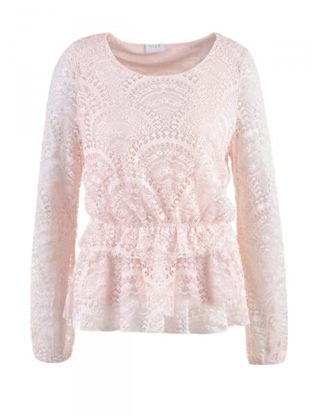 VILA Damen Shirt, rosa