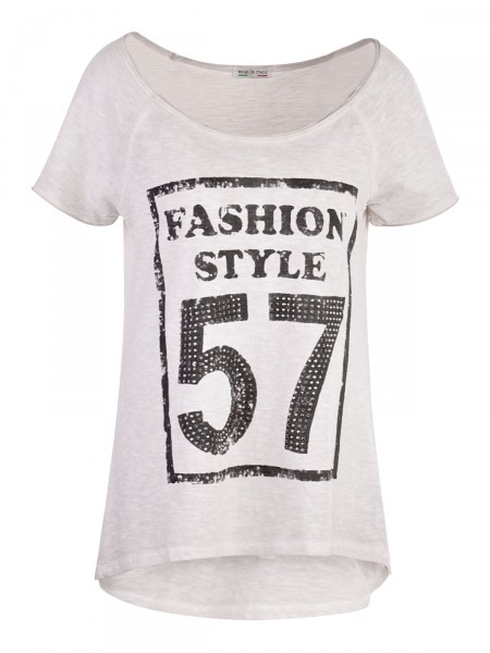 D&F FASHION Damen T-Shirt, beige