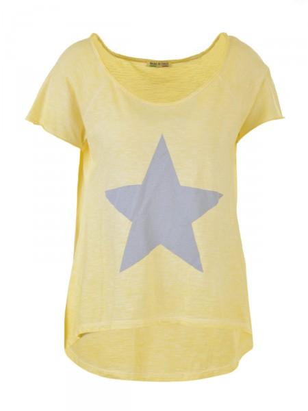 D&F FASHION Damen T-Shirt, gelb