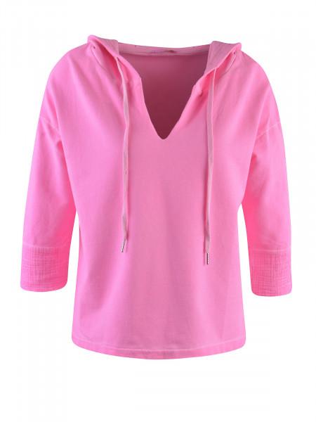 HEARTKISS Damen Sweatshirt, neon pink