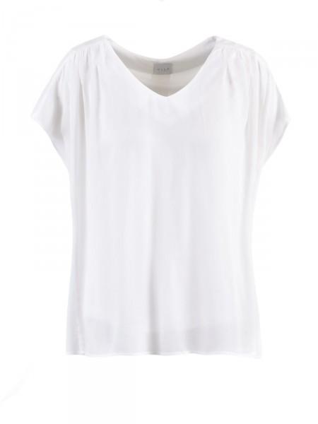 VILA Damen T-Shirt, creme