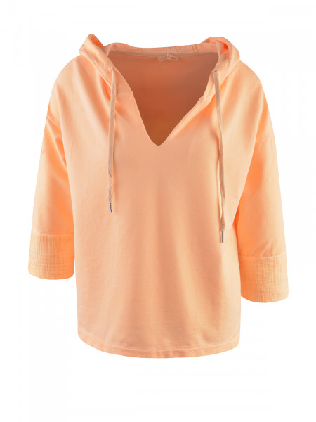 HEARTKISS Damen Sweatshirt, neon orange