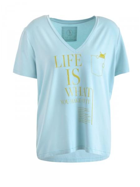 CAT NOIR Damen T-Shirt, türkisblau