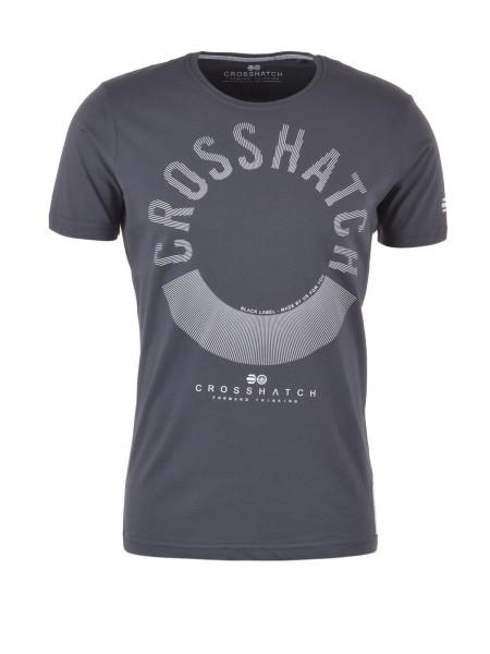 CROSSHATCH Herren T-Shirt, dunkelgrau