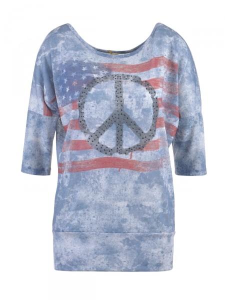 KEY LARGO Damen Shirt, blau