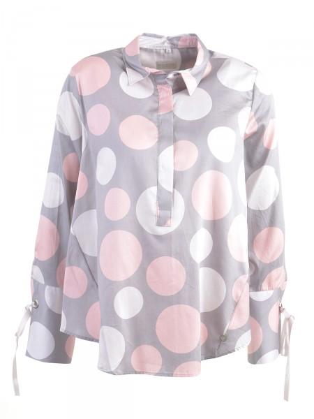 MILANO ITALY Damen Bluse, grau-rosa