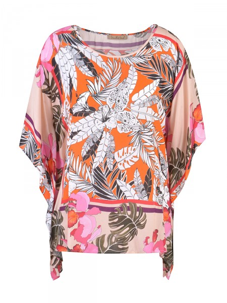 SMITH & SOUL Damen Poncho Bluse, orange