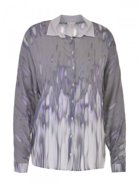 MILANO ITALY Damen Bluse, grau-lavendel