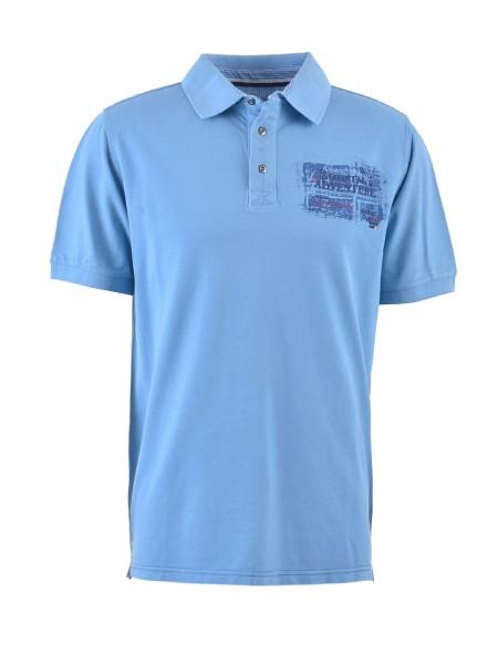 MILANO ITALY Herren Poloshirt, blau