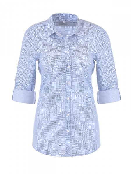 SMITH & SOUL Damen Bluse, weiß-blau
