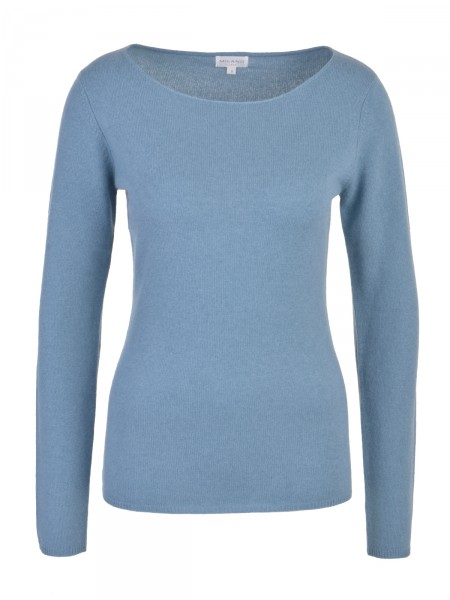 Milano Italy Damen Kaschmir Pullover, grau-blau