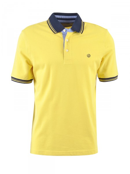 BUGATTI Herren Poloshirt, gelb