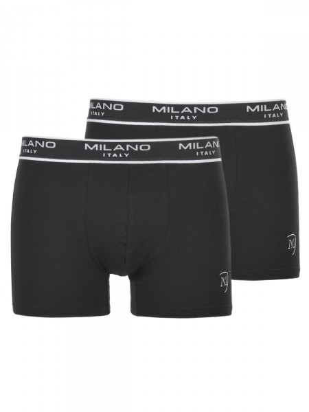 MILANO ITALY  Herren Boxershorts 2er-Pack schwarz
