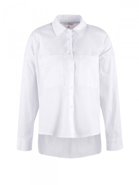 HEARTKISS Damen Bluse, weiß