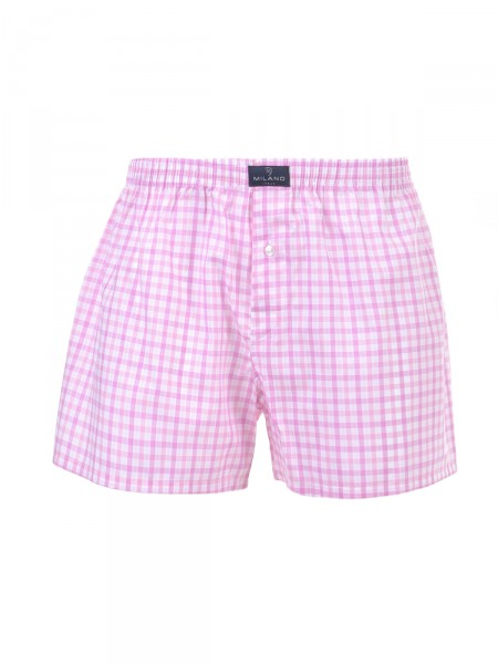MILANO ITALY Herren Boxershorts, pink-weiß
