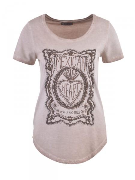 DECAY Damen T-Shirt, braun