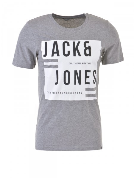 JACK & JONES Herren T-Shirt, grau