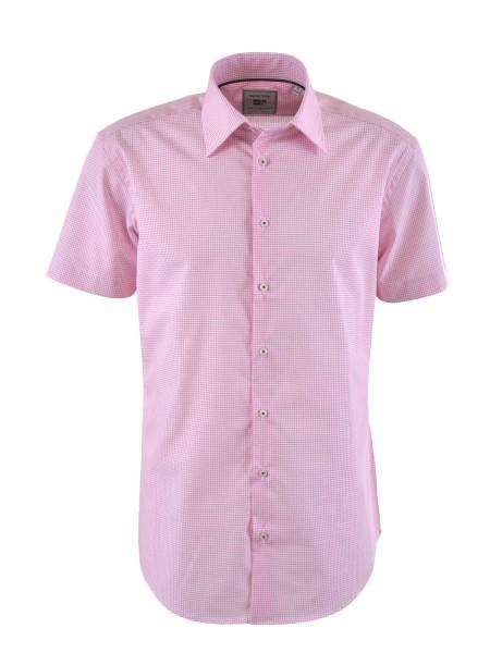 MILANO ITALY Herren Hemd, rosa-weiß