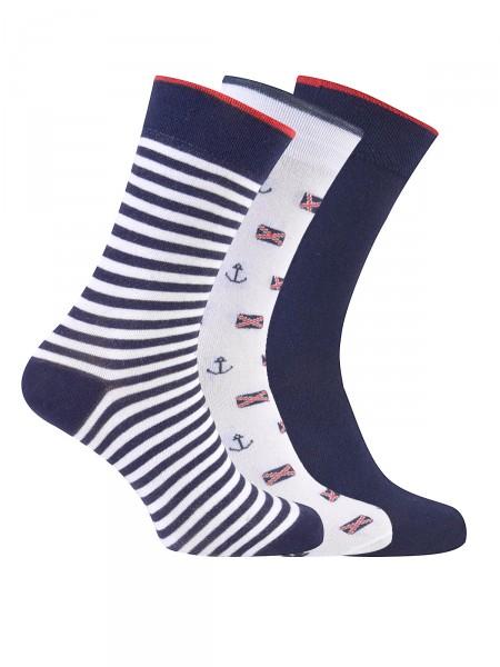 MILANO ITALY Socken im 3er Pack, weiß