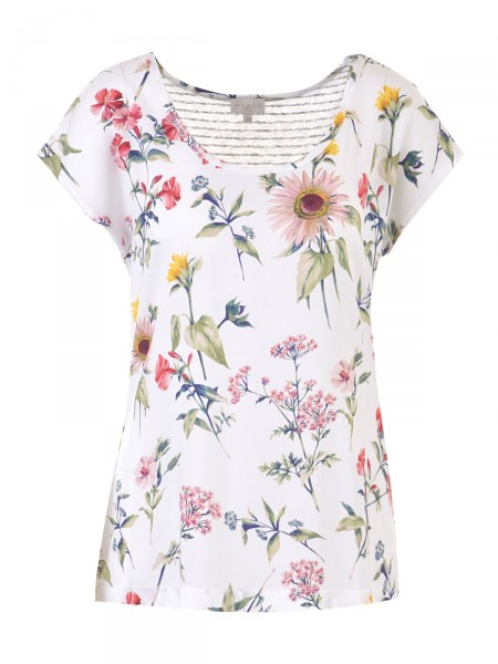 MILANO ITALY Damen T-Shirt, creme-bunt