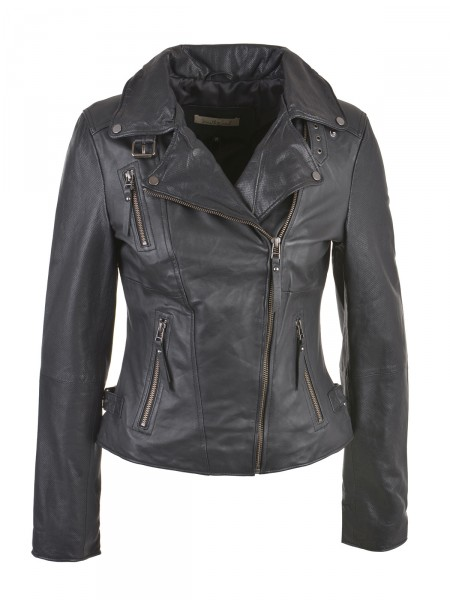 SMITH & SOUL Damen Lederjacke, schwarz