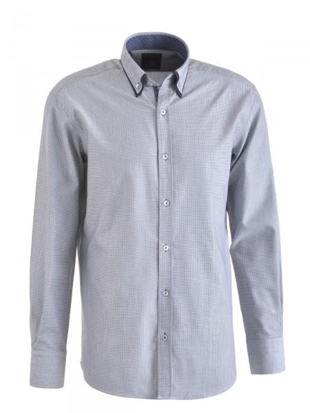 MILANO ITALY Herren Hemd, grau-weiß