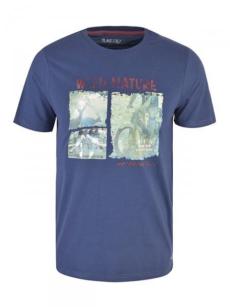 MILANO ITALY Herren T-Shirt, dunkelblau