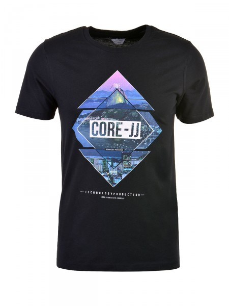 JACK & JONES Herren T-Shirt, schwarz