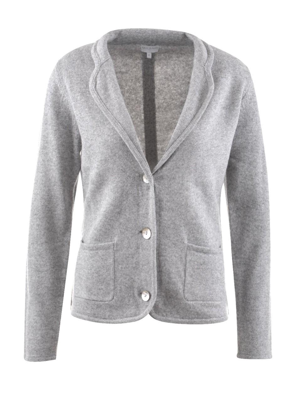 Jacken - MILANO ITALY Damen Strickjacke, grau  - Onlineshop Designermode.com