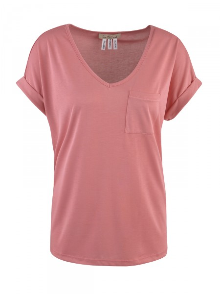 SMITH & SOUL Damen T-Shirt, puderrot